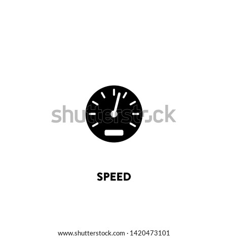 speed icon vector. speed sign on white background. speed icon for web and app