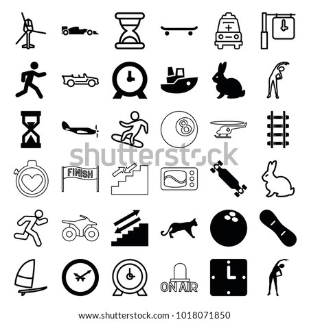 speed icons set of 36 editable