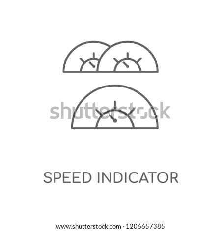 Speed Indicator linear icon. Speed Indicator concept stroke symbol design. Thin graphic elements vector illustration, outline pattern on a white background, eps 10.