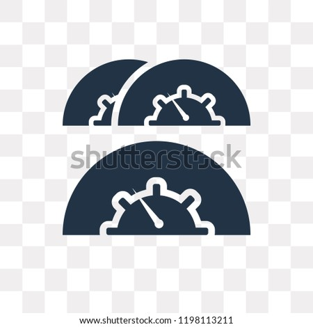 Speed Indicator vector icon isolated on transparent background, Speed Indicator transparency concept can be used web and mobile