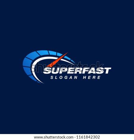 speed indicator vector logo design. speedometer icon symbol design template