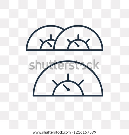Speed Indicator vector outline icon isolated on transparent background, high quality linear Speed Indicator transparency concept can be used web and mobile