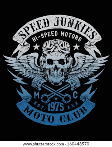 Speed Junkies Motorcycle Vintage Design