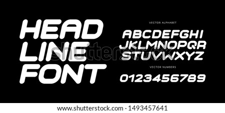 Speed letters set. White race font. Italic bold racing style vector latin alphabet. Fonts for event, promo, logo, banner, monogram and poster. Typeset design.