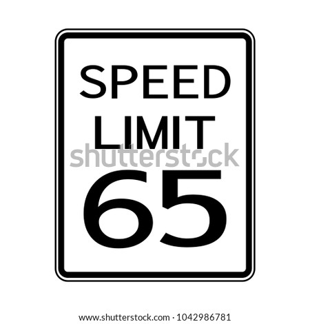 speed limit 65  mph traffic