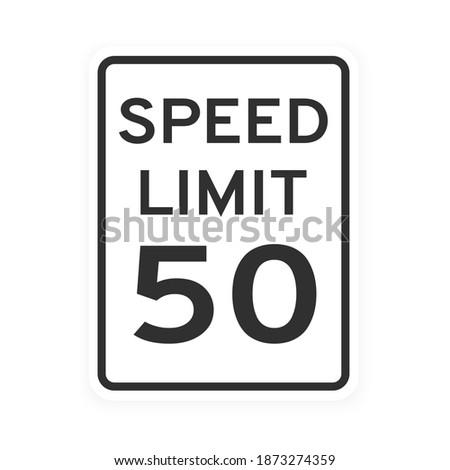 speed limit 50 road traffic