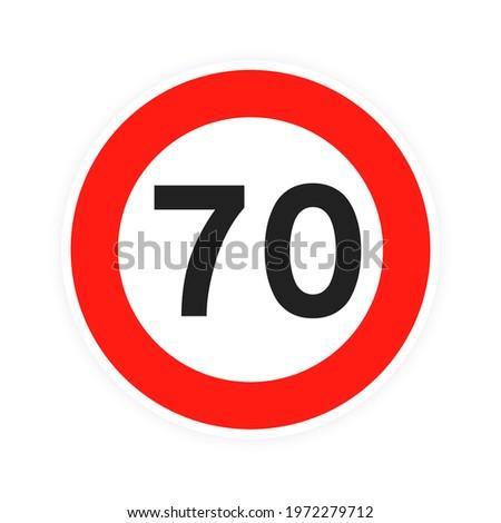speed limit 70 round road