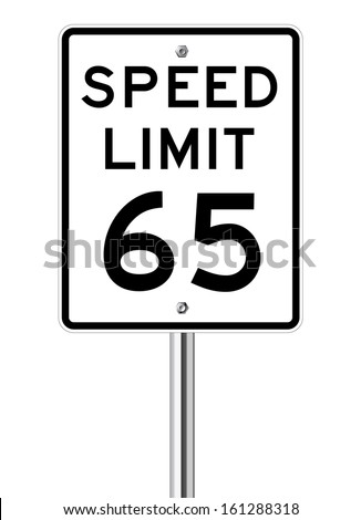 speed limit 65 traffic light on