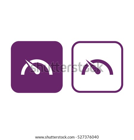 Speed limit vector icon. Purple and white