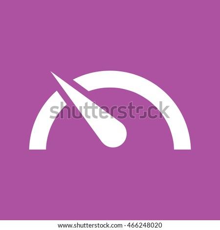 Speed limit vector icon. Purple background