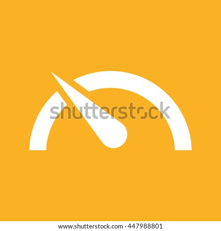 Speed limit vector icon. Yellow background