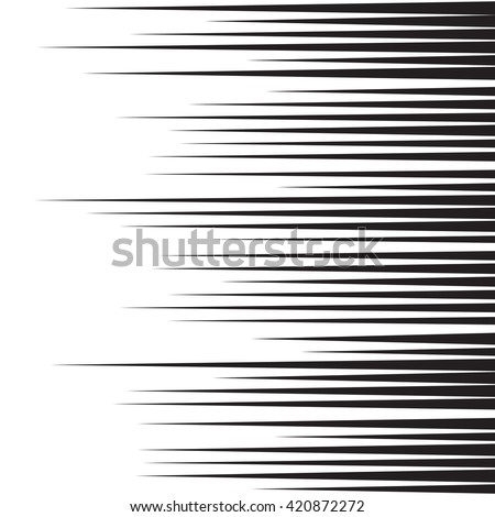 Speed lines for comic books. Black and white background. Vector illustration
