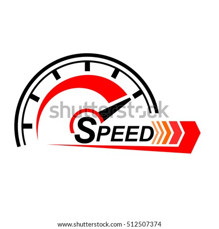 Speed logo design. icons vector