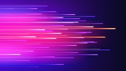 Speed movement technology connection concept neon abstract vector background