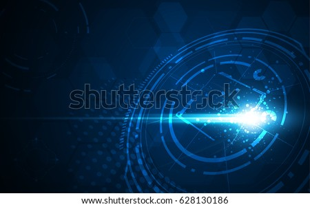 speed network connection sci fi technology concept background