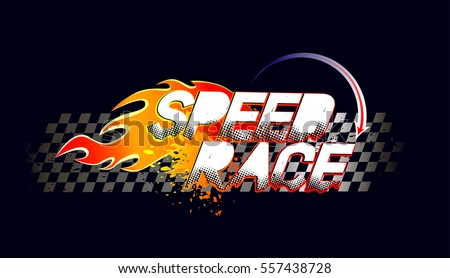 speed race logo on taxi flag