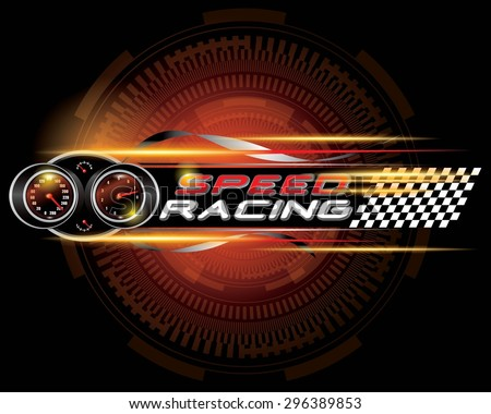 speed racing with speedometer