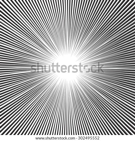 Speed radial lines graphic background effects for comic books