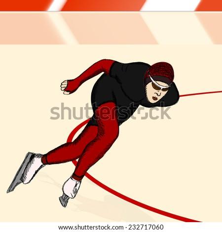 speed skater