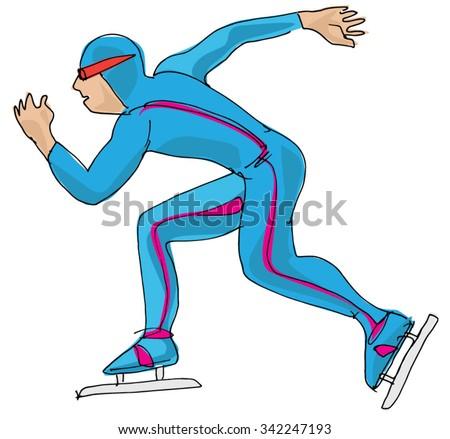 speed skating   cartoon