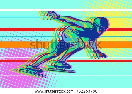 speed skating  skater on the