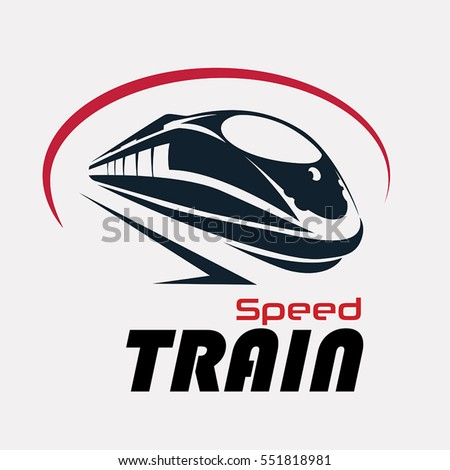 speed train logo template