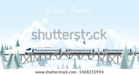 speed train on railway bridge