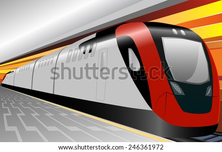 speed train underground with