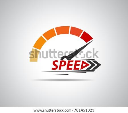 speed  vector logo racing event