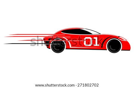 stock-vector-speeding-race-car-vector-icon