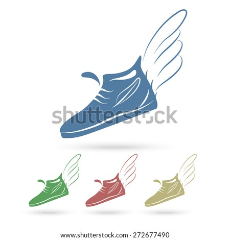 Winged Running Shoe Silhouette