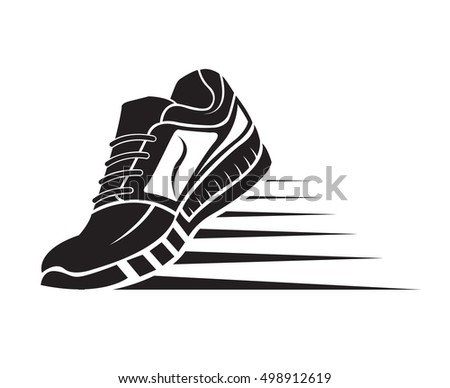 speeding running sport shoe icon