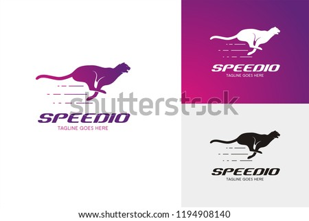 Speedio Logo, silhouettes of running cheetah