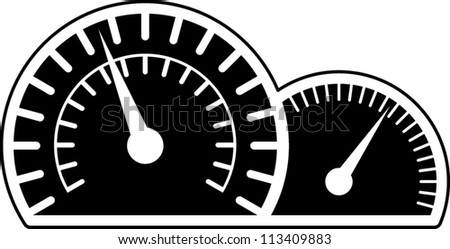 speedometer and tachometer car instruments symbol