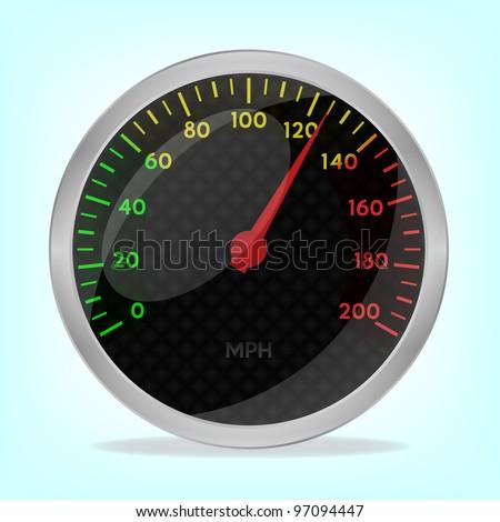 Speedometer, 10eps. - stock vector