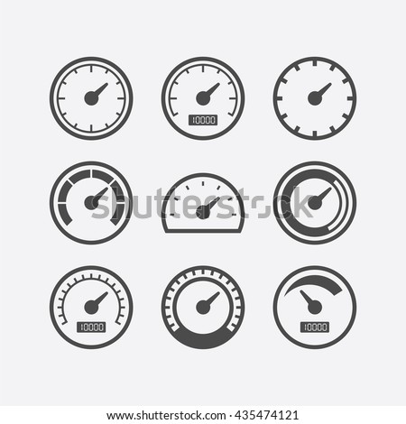 speedometer flat design vector