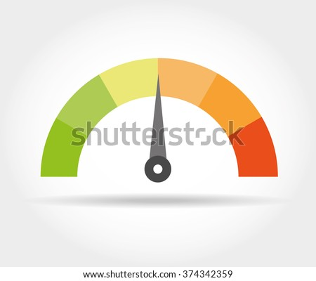 speedometer icon colorful info