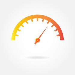 Speedometer icon or sign. Car instruments vector illustration.