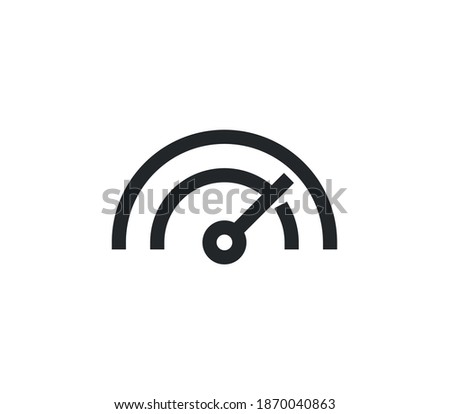 Speedometer icon outline and linear vector.  Foto stock ©