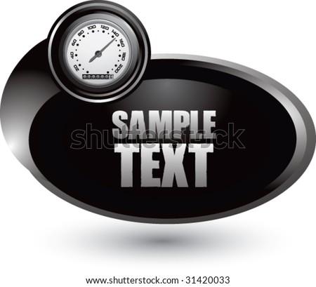 speedometer on black swoosh icon