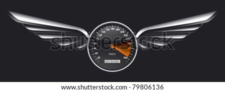 speedometer shield with glossy wings