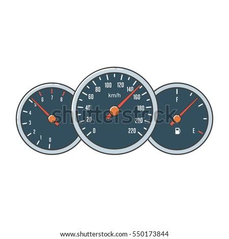 speedometer  tachometer and