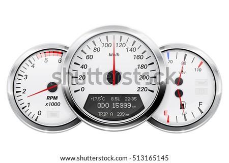 speedometer  tachometer  fuel