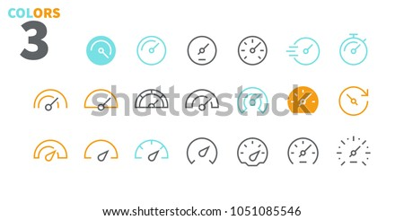 Speedometer UI Pixel Perfect Well-crafted Vector Thin Line Icons 48x48 Ready for 24x24 Grid for Web Graphics and Apps. Simple Minimal Pictogram Part 1-1