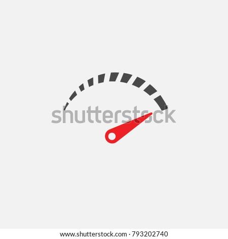 speedometer vector icon or metre level reader eps10 Сток-фото ©