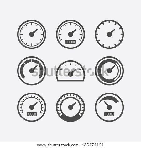 speedometer vector speedometer