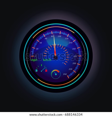 speedometer with arrow that