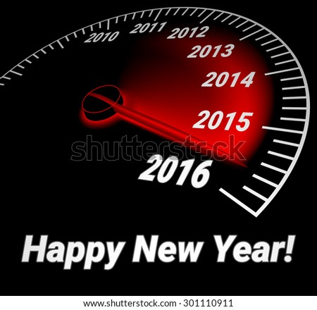 speedometer with the date of