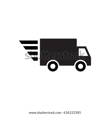 Speedy delivery wagon icon