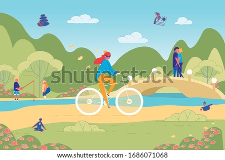 spending free time on bike ride